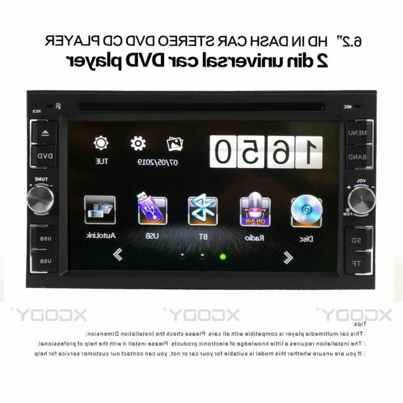 "Car CD Player 6.2"" Touch Screen 2DIN + Free Rear Camera"