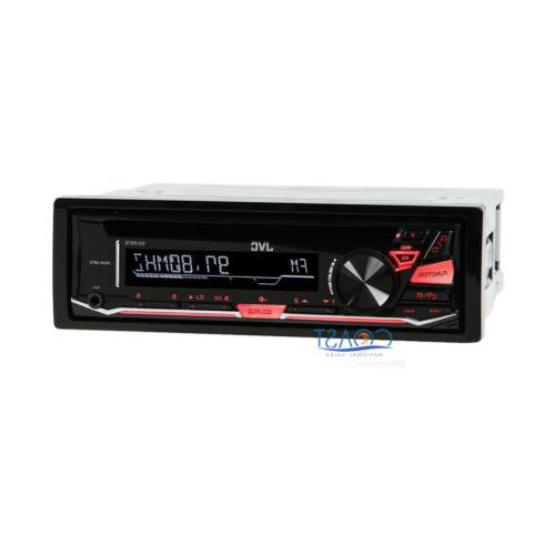 JVC CD MP3 Car Stereo Receiver w/Detachable Faceplate & Fron