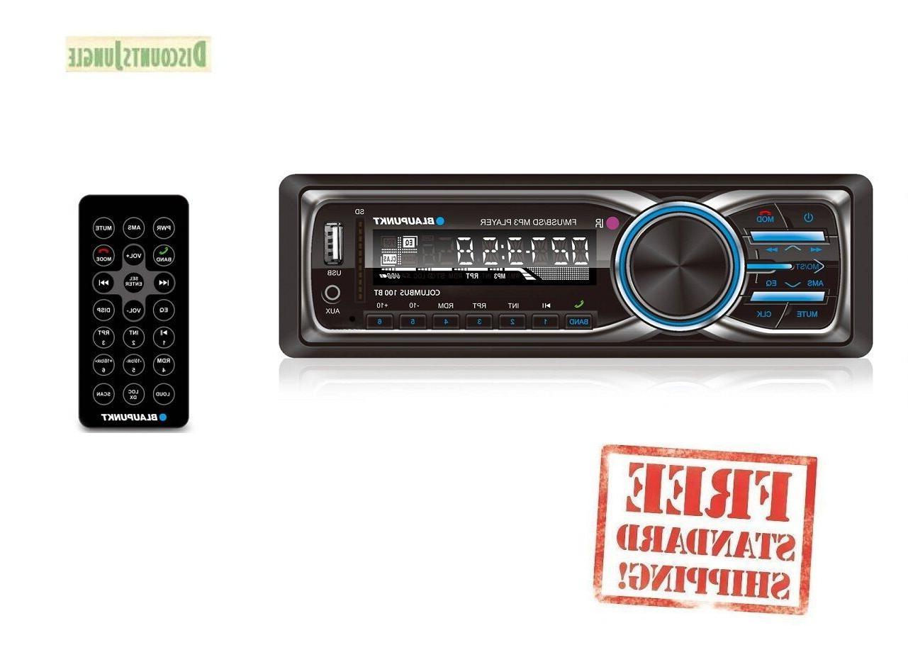 Blaupunkt Columbus 100BT MP3/FM/SD Card Slot Stereo Receiver