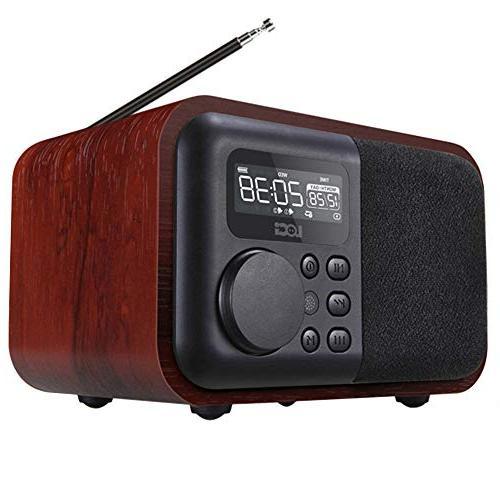 d90 wooden bluetooth speaker alarm