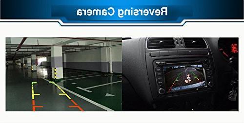 Crusade 7 Inch Dash Car Player Radio Toyota 2015 with Free Reverse Backup Camera & Free USA Map