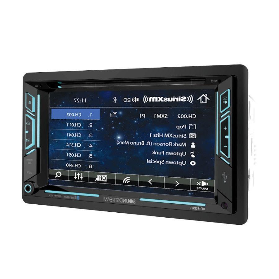 NEW Soundstream Double 2 DIN VR-63XB DVD/CD/MP3 Player Bluet