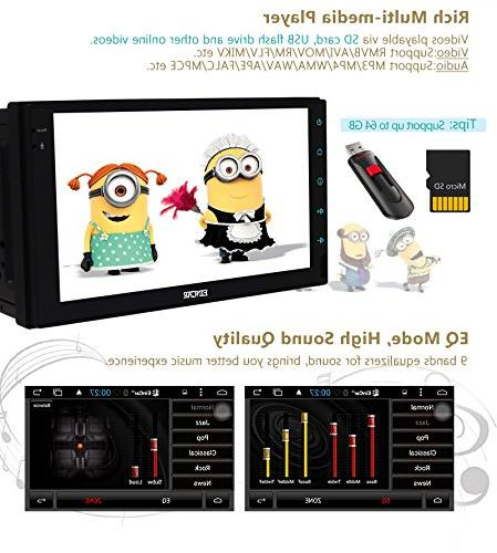 Double Android 6.0 with 7'' Full touch screen In Dash Navigation Headunit GPS Receiver Support Mic/WiFi Front