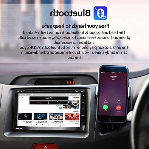 Double Din Stereo - inch ROM Touch Dash CD Bluetooth WiFi GPS
