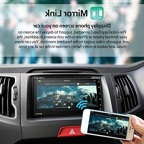 Double Din Android Car Stereo inch 2GB Ram 32 ROM Touch Dash DVD CD WiFi GPS Navigation System
