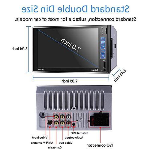 PLZ Double Stereo In-dash Digital Media Car Stereo Bluetooth, Digital Monitor, Player/FM/Am/TF/USB/Aux-in, Remote Camera
