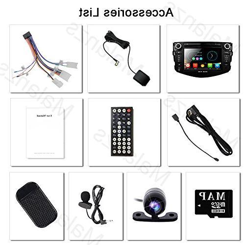 Double Din Radio Stereo Toyota RAV4 2006-2012 Head 7 indash GPS SD USB Steering Wheel