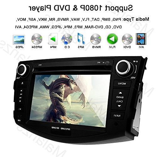 Stereo Navigation Toyota Bluetooth Head Unit inch indash DVD Screen GPS SD Steering Wheel