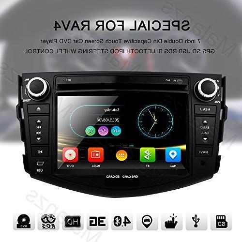 Double Din Radio Stereo with Navigation Toyota RAV4 Bluetooth Head inch indash DVD Screen Steering Wheel Control