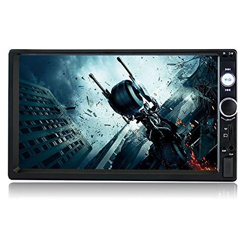 SPEEDTON Double Din Touch Stereo MP5/MP4/MP3 Player Radio Car Remote Control