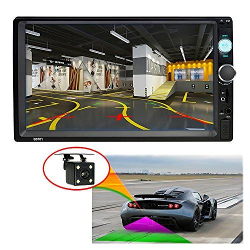 SPEEDTON Din Stereo Radio Car Bluetooth Support Rear View Remote