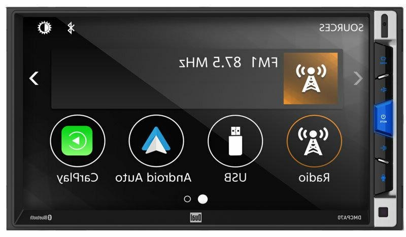 """Dual 7"""" 2-DIN Touchscreen Bluetooth Car Stereo Multimedia"""