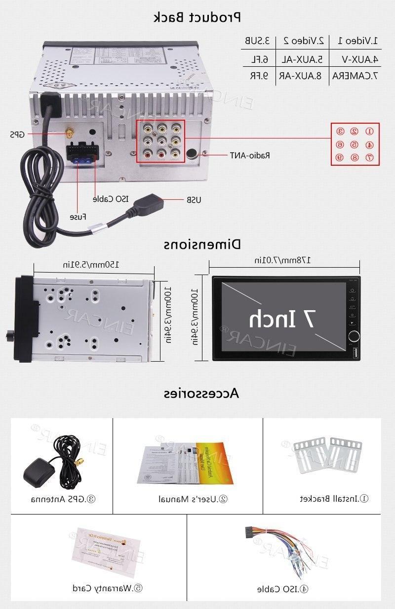 <font><b>Eincar</b></font> Head Unit <font><b>Car</b></font> DVD Player GPS Support Wifi