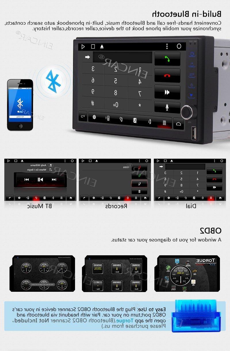 <font><b>Eincar</b></font> <font><b>Stereo</b></font> Touchscreen Head Unit Android GPS Navigation Support