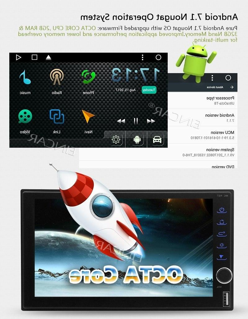 Head Unit Android 7.1 <font><b>Car</b></font> NO Player GPS Navigation Autoradio Support USB/SD+Camera