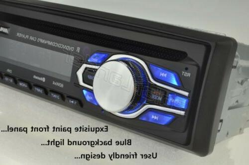 Single 1 Din DVD Radio Bluetooth In-dash FM