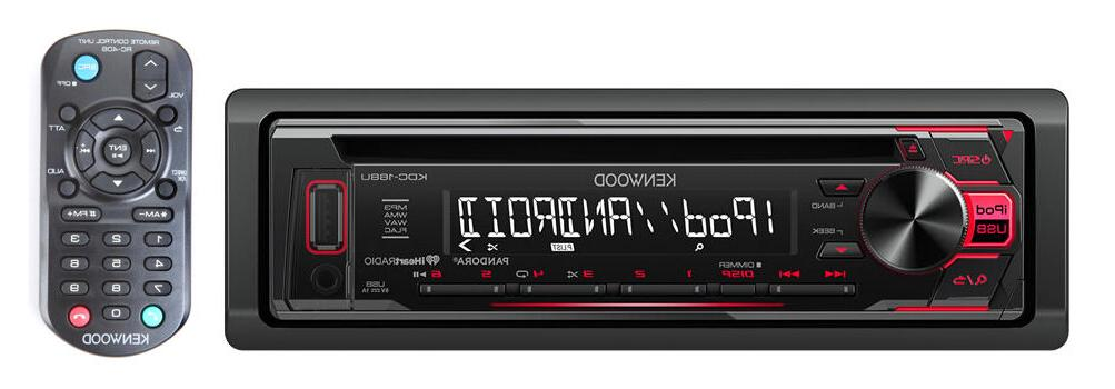 Kenwood KDC-168U Single In-Dash CD/AM/FM Receiver and Inputs