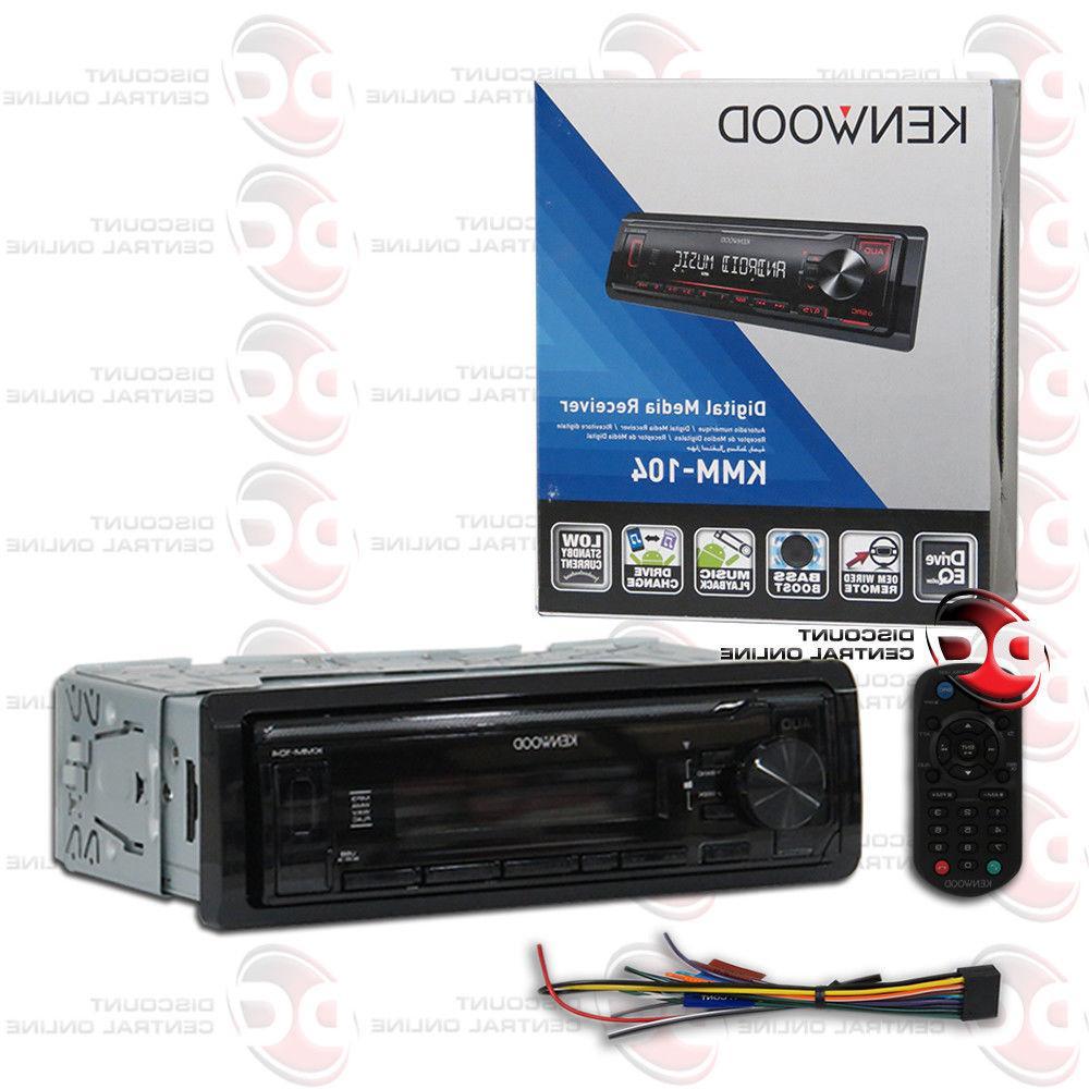 KENWOOD KMM-104 1DIN CAR AUDIO USB AM FM DIGITAL MEDIA MECHL