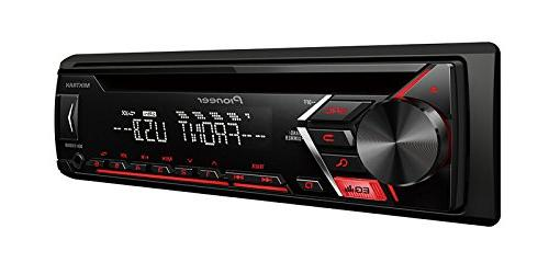 Pioneer In-Dash CD, Front Auxiliary Input, Detachable Plate Stereo Support EARBUDS