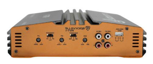 Rockville RVT-1 Watt 2 Car Amplifier+Memphis Kit