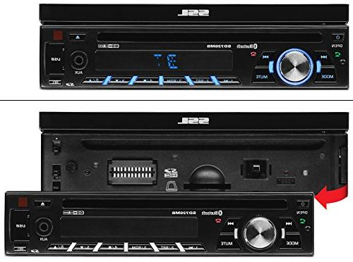 Sound Single Din, AM/FM 7 Inch LCD Detachable Front Panel