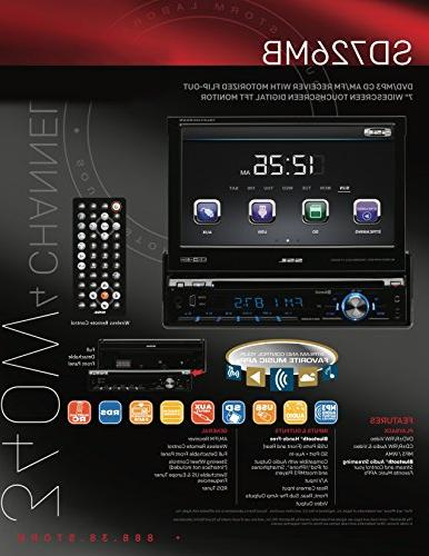 Sound SD726MB Din, Bluetooth, AM/FM Inch Digital LCD Detachable