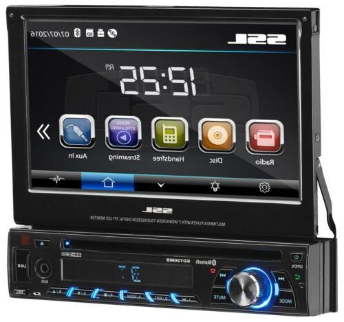 Sound Din, Bluetooth, AM/FM Stereo, Inch Digital Detachable Panel