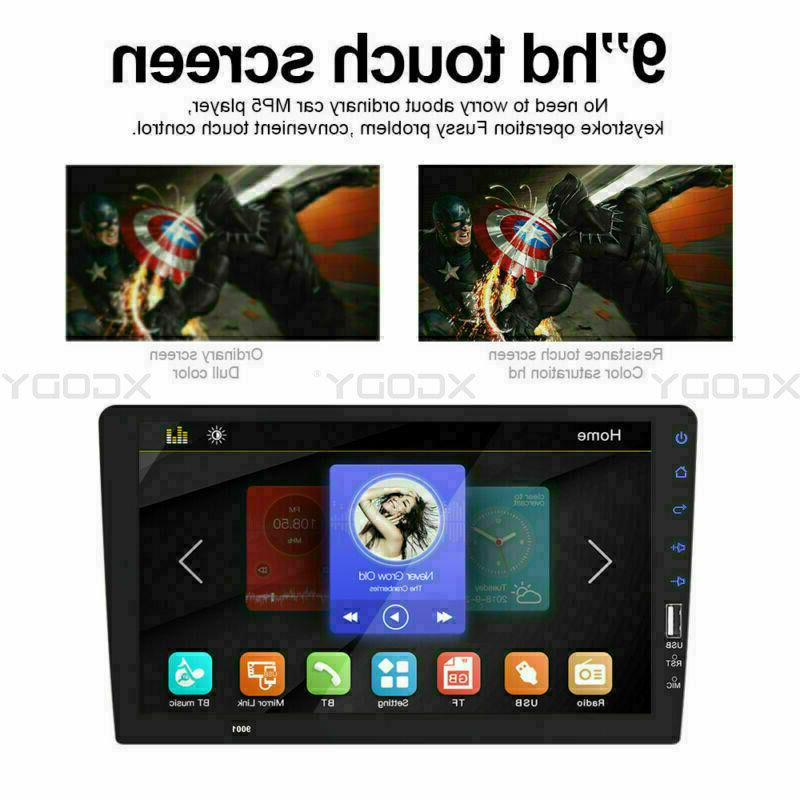 Single Car FM/USB/AUX Touch Stereo BT In-Dash