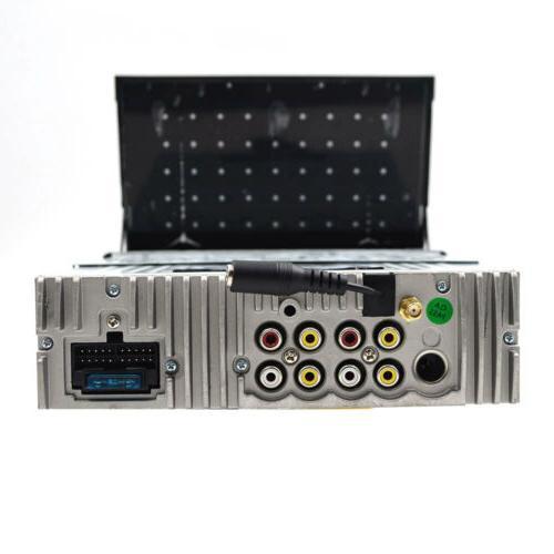 Single DIN HD Up NAV Car Stereo DVD MP3 Player USB Radio Camera