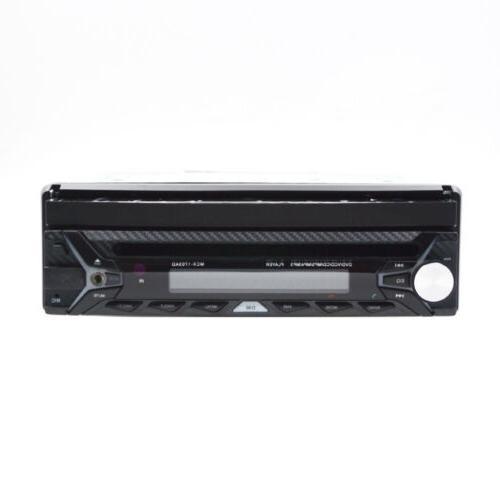 "Single 1 DIN 7"" HD Flip NAV Stereo CD DVD MP3 Player USB Radio Camera"