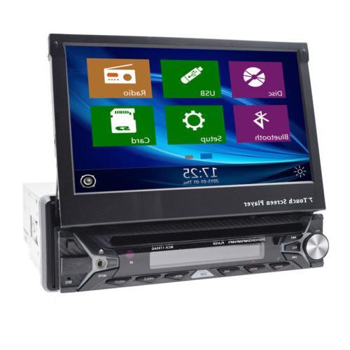 Single 1 HD Flip Up NAV DVD MP3 Radio Camera
