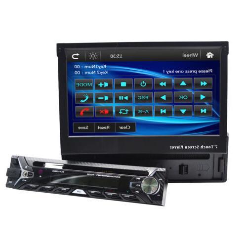 "Single 1 7"" HD Flip Up GPS NAV Car DVD Radio"
