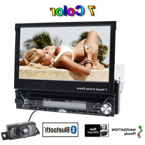 Single HD Flip NAV CD DVD MP3 Player Radio Camera