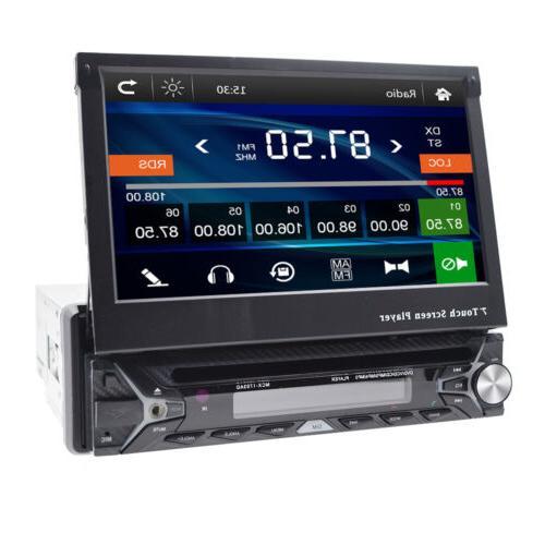 Single HD Flip Up NAV Car Stereo DVD Radio Camera