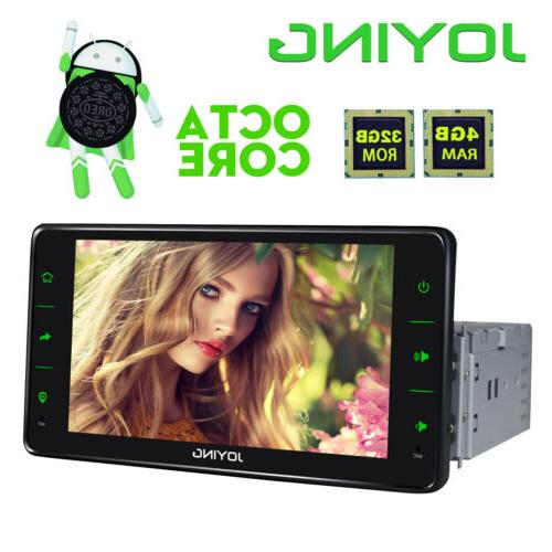 "JOYING Single 1Din Android 8.0 Car Stereo GPS 6.2"" Touch Scr"