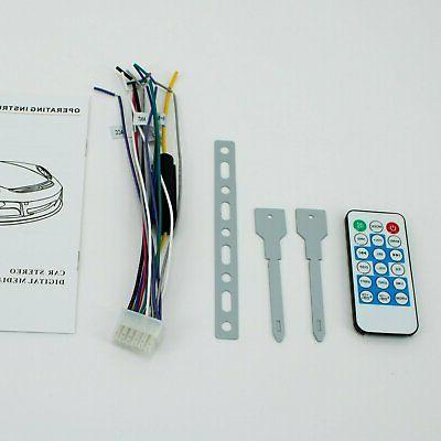 SoundXtreme Single-DIN CD Stereo Bluetooth, SD & Input Audio