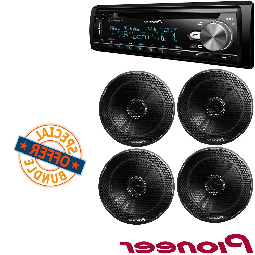 "Single Din CD Stereo with USB & Aux Input W/ 2-Way 6-1/2"" 50"