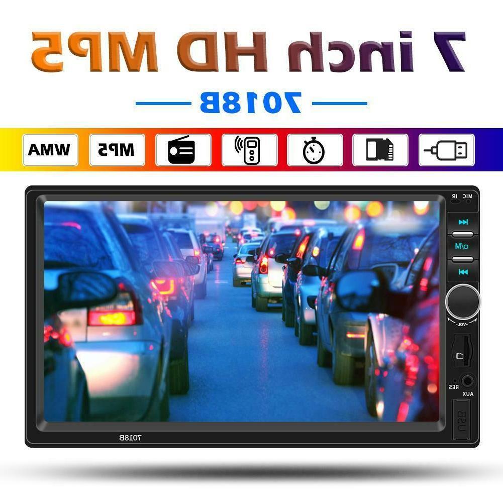 SWM 7018B 12V Bluetooth Car Stereo MP5 Player Double 2DIN AU