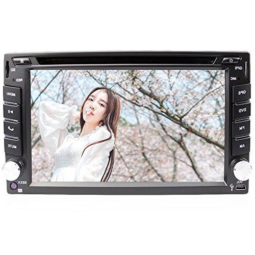 Eunavi 2 Dash Universal Car Stereo with Navigation, Dash Car GPS DVD with USB MP3 Radio and Card