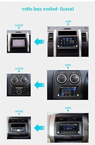 Eunavi 2 Din Dash Universal with 6.2-inch Dash 2 Car GPS DVD Player USB and Map