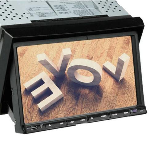 US Car Audio DIN Touchscreen DVD CD Player Bluetooth