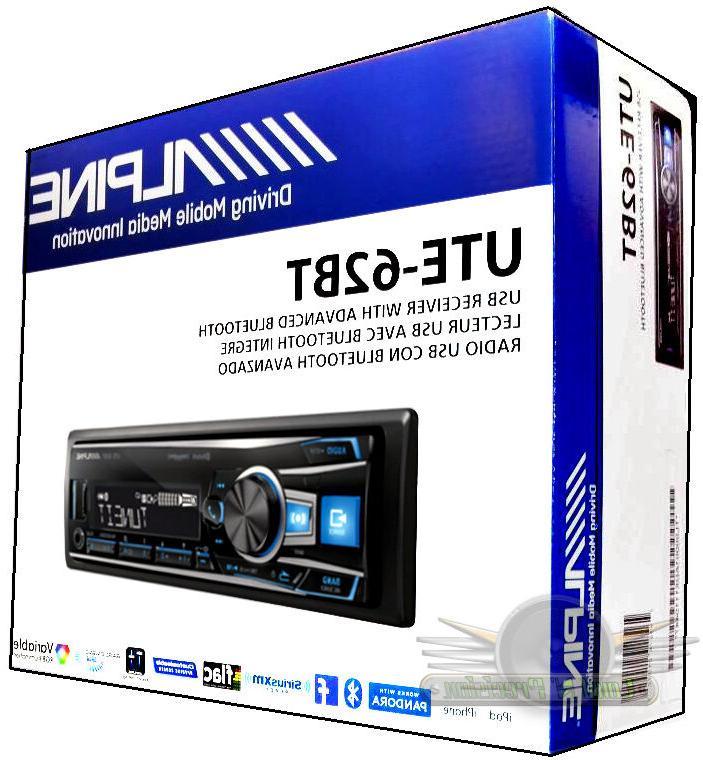 Alpine UTE-62BT In-Dash FM/MP3/USB/Bluetooth Car Stereo Digi