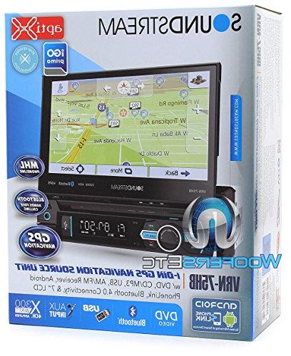 "pkg 1-DIN 7"" DVD with GPS and Android XO Vision HTC Backup Camera with Nightvision"