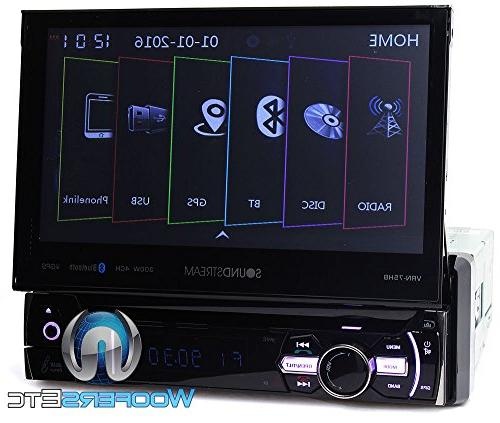 pkg Soundstream VRN-75HB 1-DIN with Navigation and Android PhoneLink XO Backup Camera with