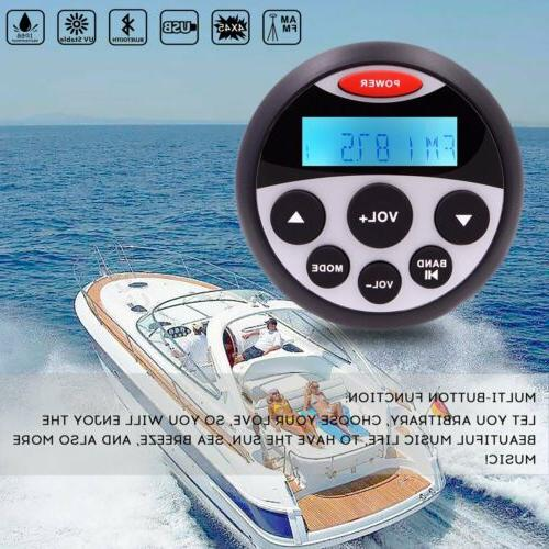Waterproof Bluetooth Stereo Marine Boat FM AM Radio Car Audi
