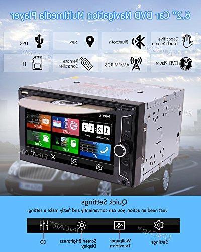 Wireless Rear Camera DVD in Dash GPS Autoradio Tuner Deck Video Automotive Stereo Head Unit SD