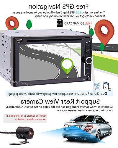 Wireless + EinCar Double Car DVD GPS Navigation 2 Autoradio Radio Tuner Car Video Automotive Head Unit USB SD Win