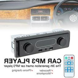 LED Car Stereo Audio In-Dash FM Aux Input Receiver SD USB MP