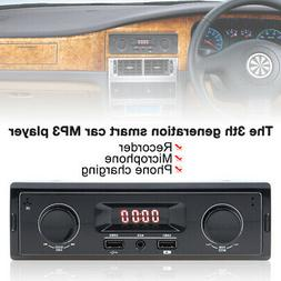 LED Car Stereo Audio In-Dash FM Aux Input Receiver TF SD USB