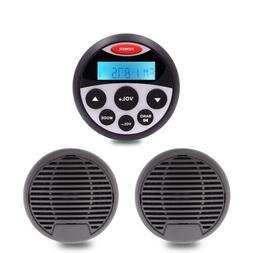 Marine Audio Gauge BT Stereo Package For Yacht Car FM Radio+